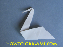 Swan origami - How to make swan origami instruction 15 - Child origami