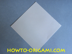 Swan origami - How to make swan origami instruction 1 - Child origami