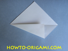 Swan origami - How to make swan origami instruction 3 - Child origami