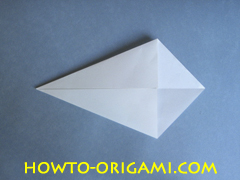 Swan origami - How to make swan origami instruction 4 - Child origami