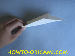 Swan origami - How to make swan origami instruction 5 - Child origami