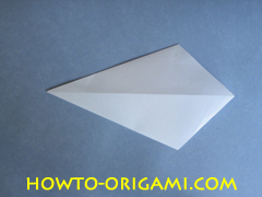 Swan origami - How to make swan origami instruction 6 - Child origami