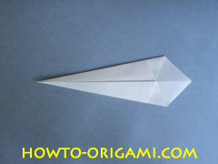 Swan origami - How to make swan origami instruction 8 - Child origami