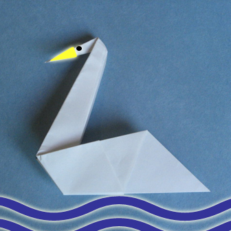 How to Make an Origami Swan (Intermediate) - Rob's World - YouTube | 336x336