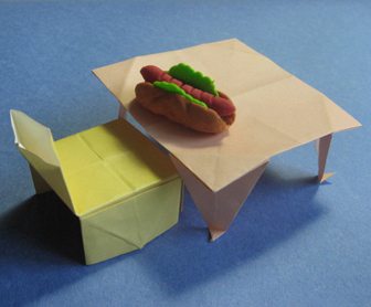 Table Origami   How To Make Table Origami Instruction   Childrenu0027s Origami