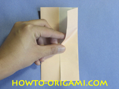 Table origami - How to make table origami instruction 13- Children origami