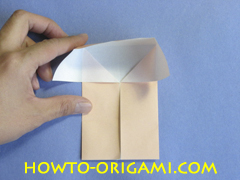 Table origami - How to make table origami instruction 17 - Children origami