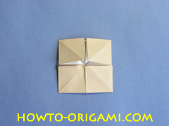 Table origami - How to make table origami instruction 25- Children origami