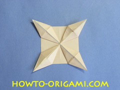 Table origami - How to make table origami instruction 35- Children origami