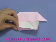 boat origami, how to origami a tricky boat instruction16 - easy origami for kids
