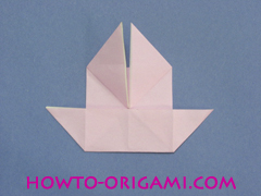 boat origami, how to origami a tricky boat instruction19 - easy origami for kids