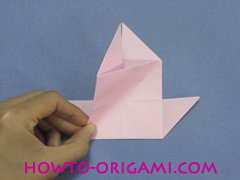 boat origami, how to origami a tricky boat instruction22 - easy origami for kids