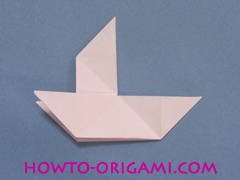 boat origami, how to origami a tricky boat instruction29 - easy origami for kids