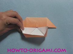 Boats origami - how to origami twin boats instruction17