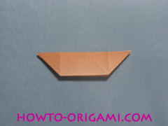 Boats origami - how to origami twin boats instruction19