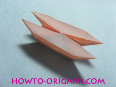 Boats origami - how to origami twin boats instruction20