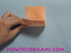 Boats origami - how to origami twin boats instruction6