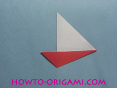 Boat origami - how to origami Yacht instruction12