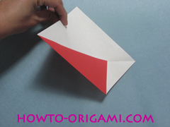 Boat origami - how to origami Yacht instruction5