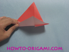 Boat origami - how to origami Yacht instruction7