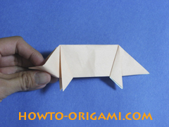 how to origami a pig instruction 20