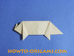 how to origami a pig instruction 21