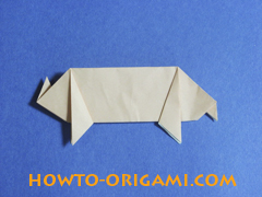 how to origami a pig instruction 23