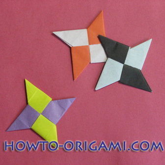 How To Make Star Origami Shuriken Hidden Sword In The Hand