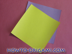 Star origami instruction 1