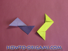 Star origami instruction 19