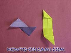Star origami instruction 16
