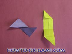 Star origami instruction 16