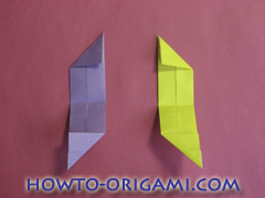 Star origami instruction 13