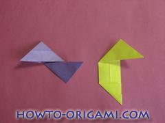Star origami instruction 17